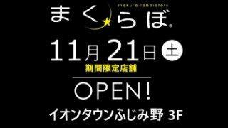 オーダーメイド枕の店「まくらぼ」11月21日(土)期間限定店舗OPEN!イオンタウンふじみ野 3F